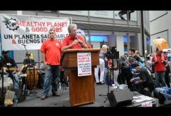CWA District 1 VP Chris Shelton at World Climate Rally NYC